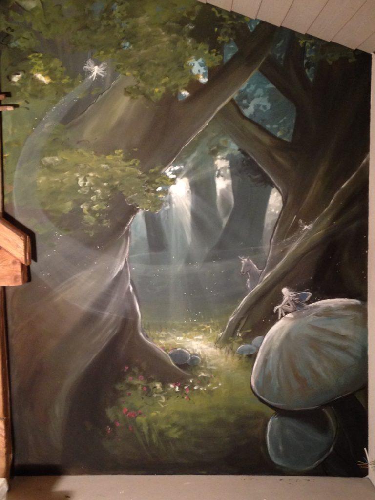 Fresque forêt magique
