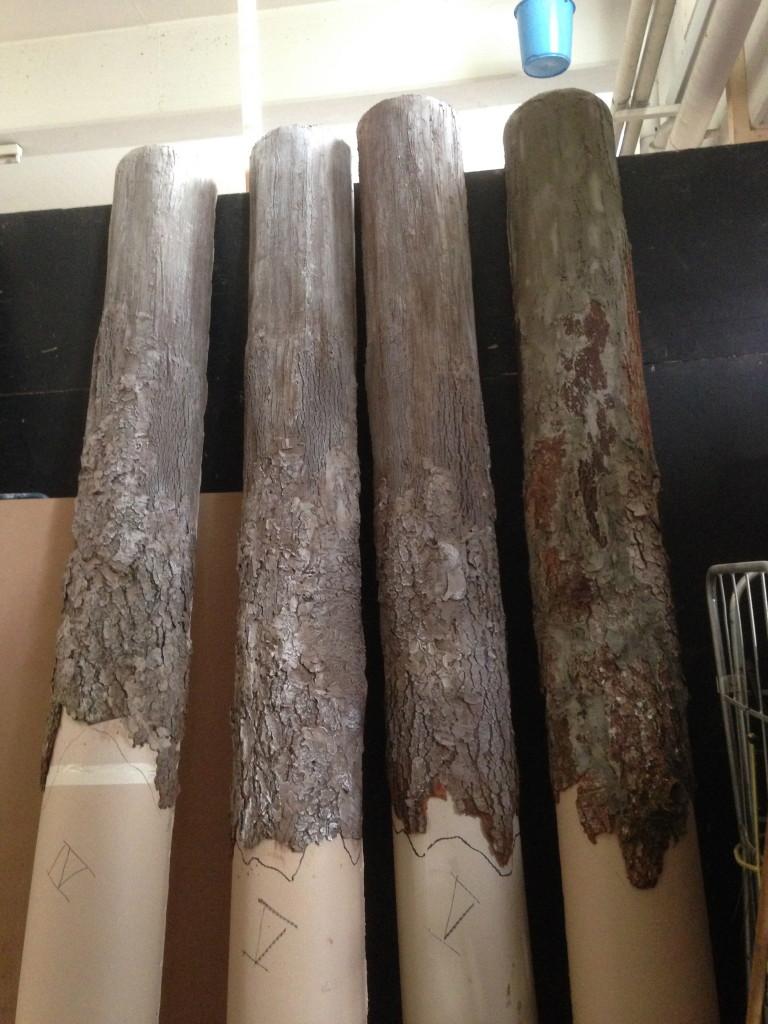 construction des troncs en atelier