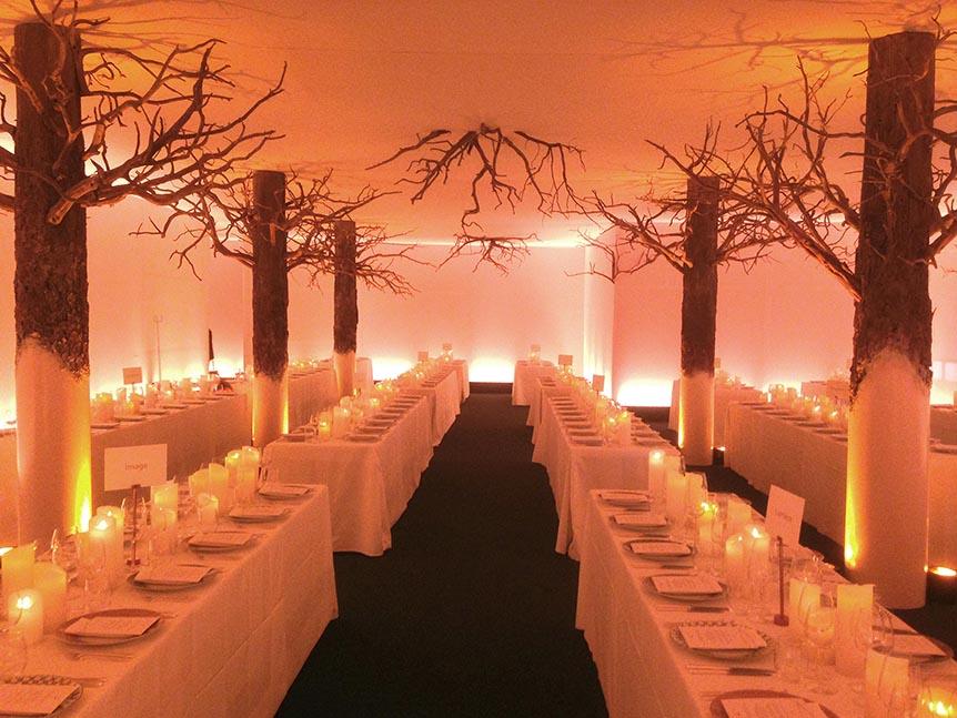 Création de faux arbre pour une réception