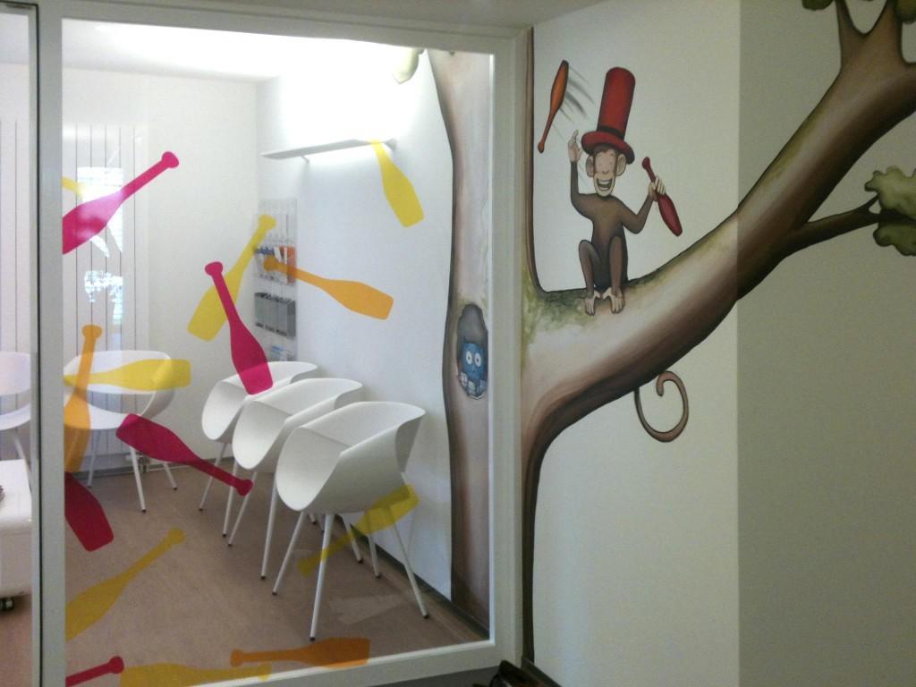 fresque corentin meige enfant déco décor pédiatrie cabinet artiste peinture suisse fribourg vaud sugiez fresques peinture murale