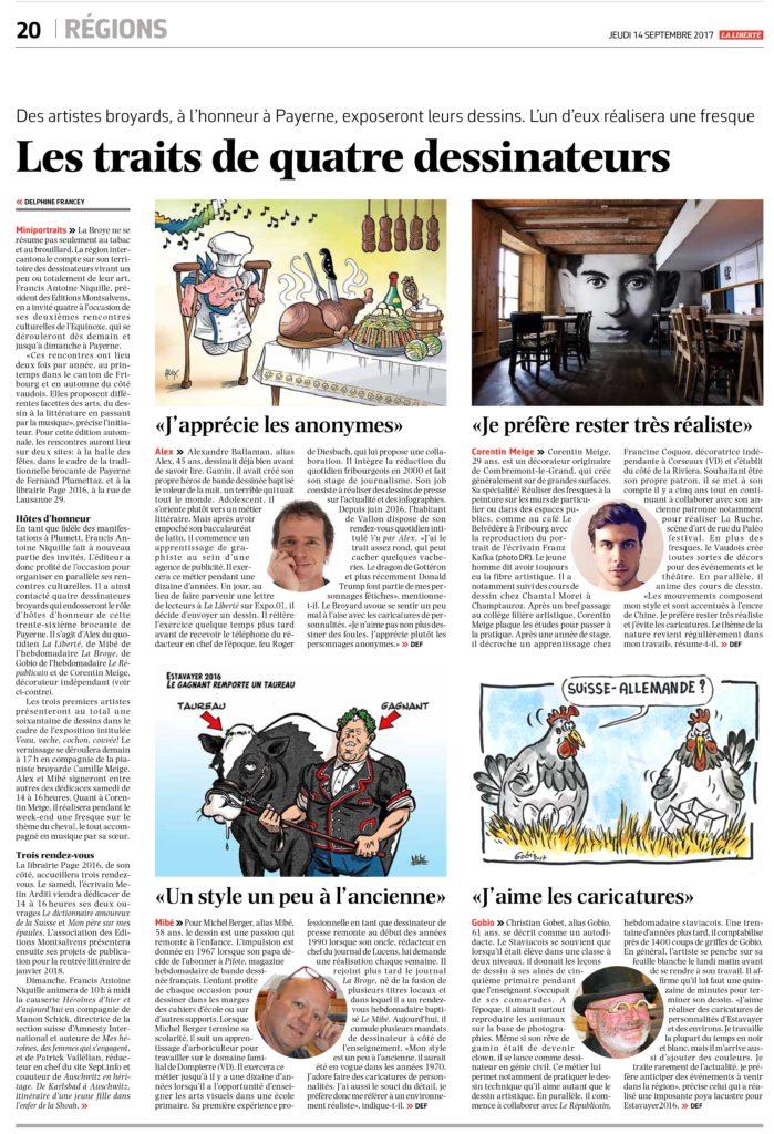 Article journal La Liberté, Article journal «La Liberté», Corentin M