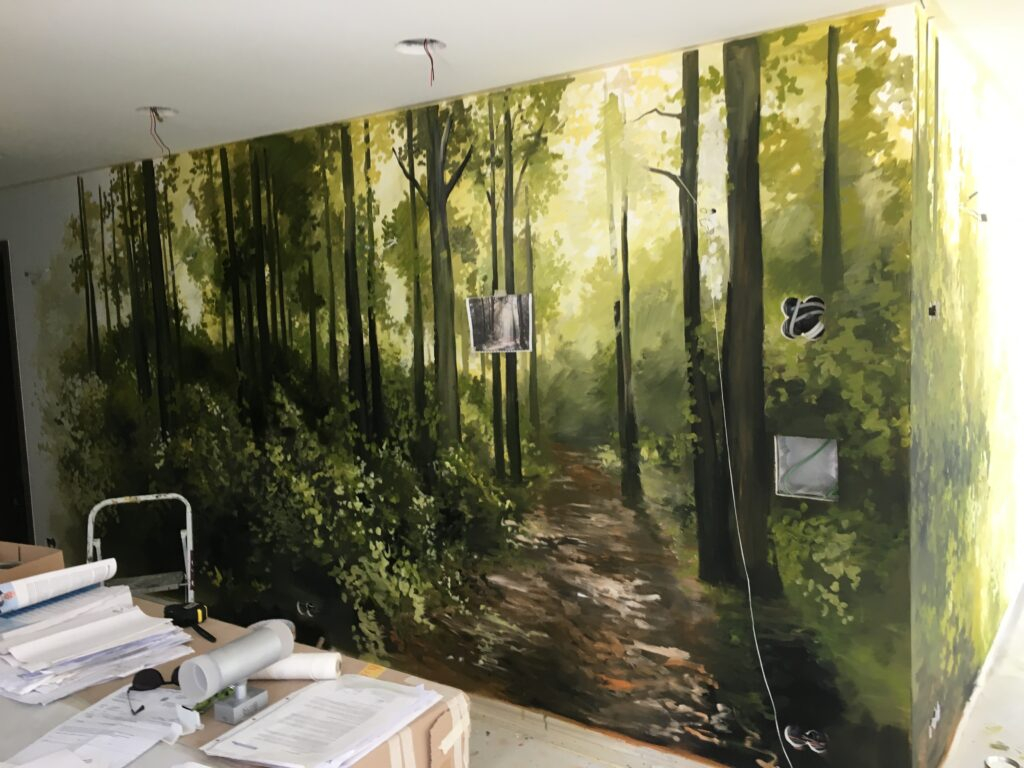 Peindre Une Fresque Sur Un Mur peinture murale forêt – corentin m