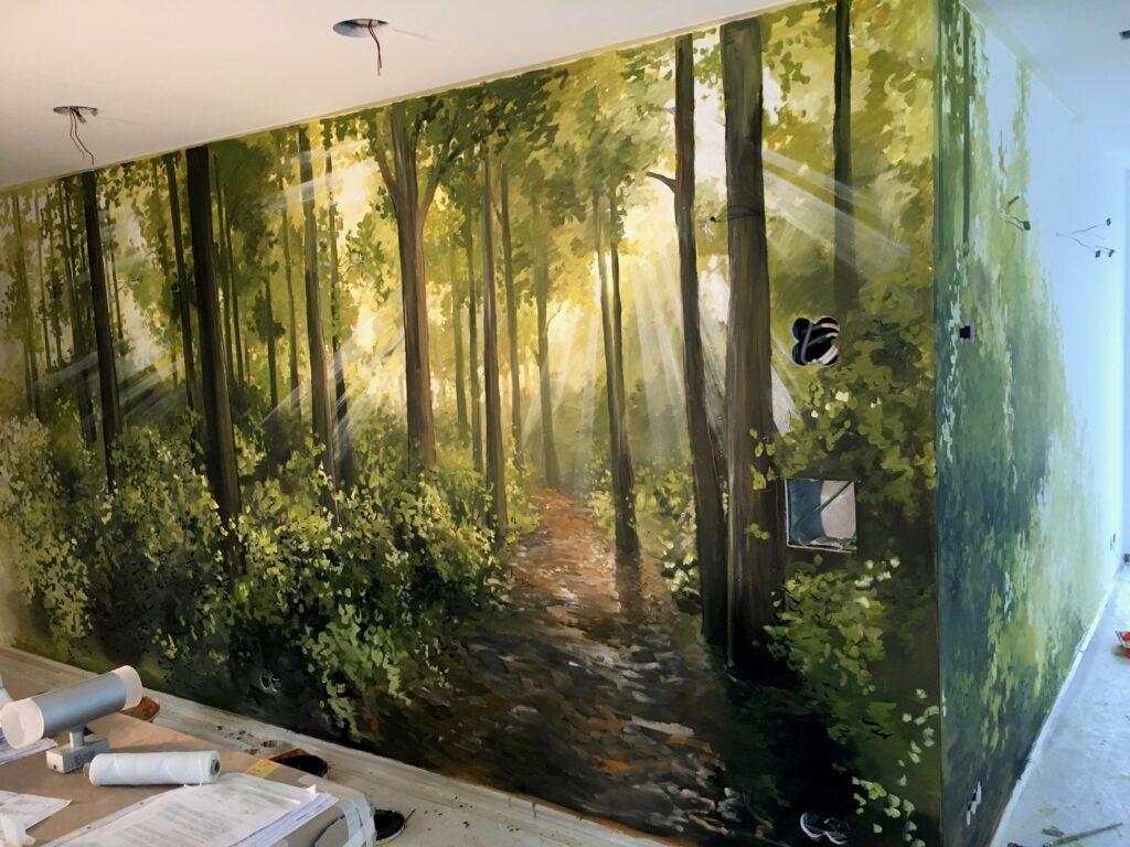 corentin meige fresques trompe l'oeil suisse vaud fribourg maison le parquier gruyère