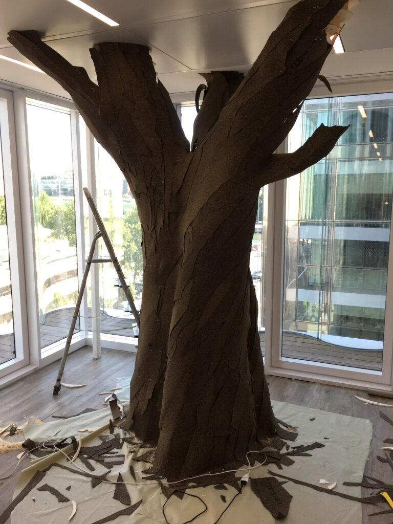 faux arbre étapes