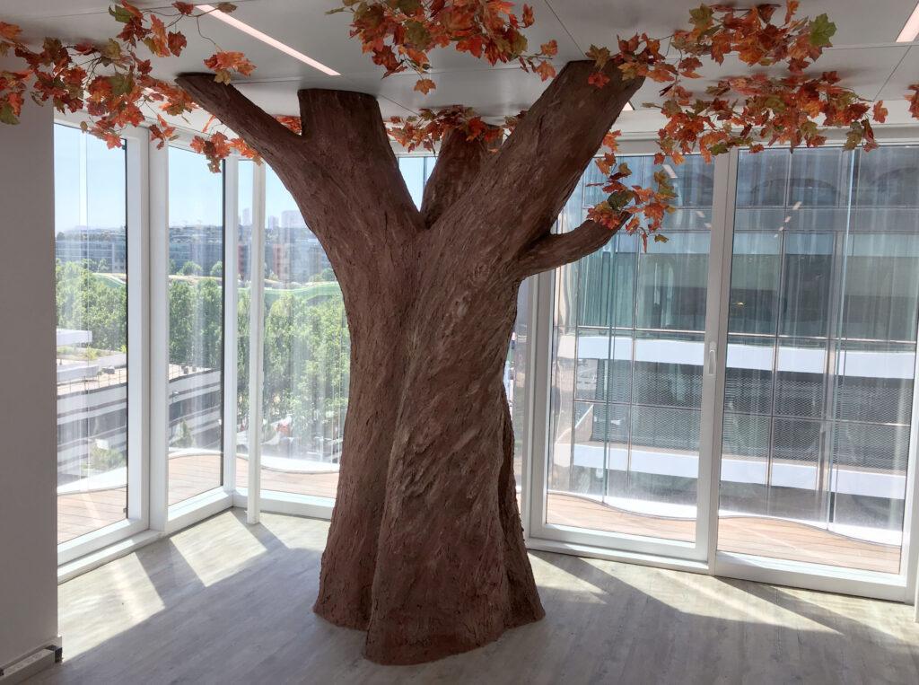 faux arbre paris corentin meige déco décoration art fresque