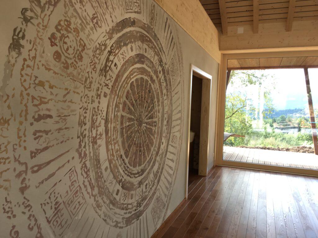 fresque mandala trompe l'oeil corentin meige suisse vaud jura